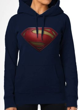 DC Comics Superman Man of Steel Textured Logo - Hoodie