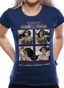 DC Comics Wonder Woman Retro Squares - Female - T-Shirt