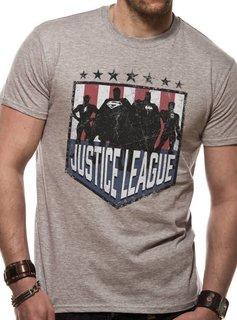 DC Justice League Comics - Silhouette Shield - T-Shirt