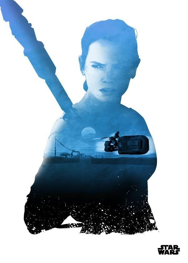 Star Wars Rey - Resistance vs First Order Displate
