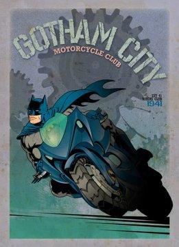 Displate Batcycle - Gotham City Motor Club - Displate