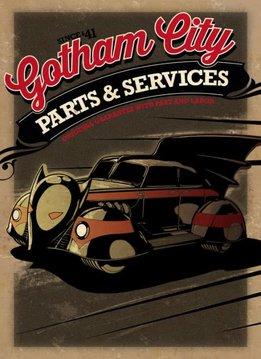 Displate Batmobile 1943 - Gotham City Motor Club - Displate