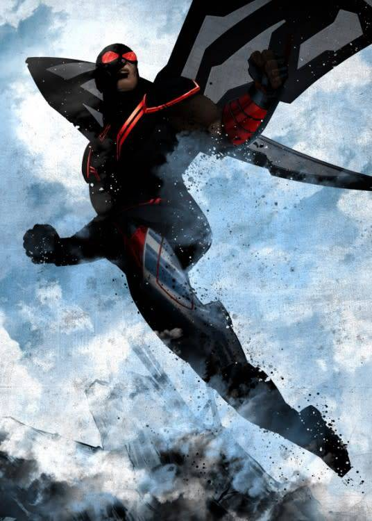 Marvel Falcon - Marvel Dark Edition - Displate