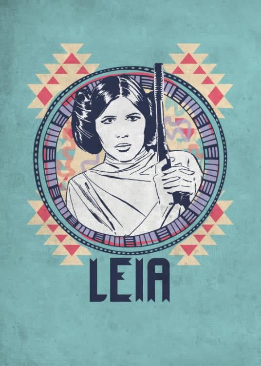 Star Wars Leia - Space Patterns - Displate