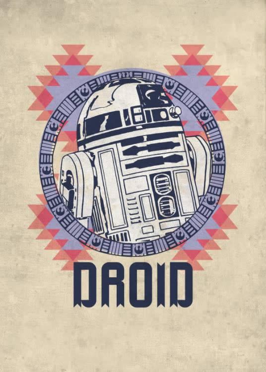 Star Wars R2-D2 - Space Patterns - Displate