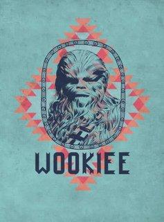 Star Wars Wookie - Space Patterns - Displate