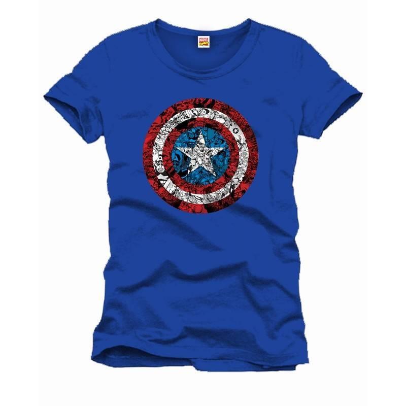 Marvel Captain America Comic Logo Shield - T-Shirt