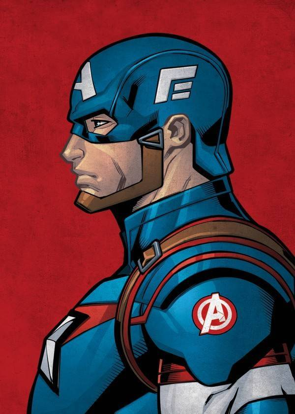 Marvel Captain America - Marvel Profile - Displate