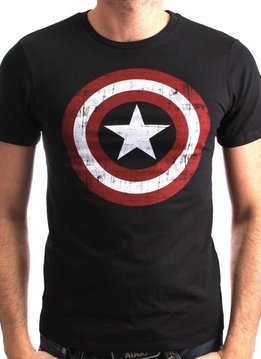 Marvel America Shield Washed v2 - T-Shirt