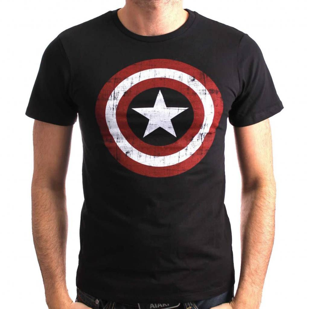 Marvel America Shield Washed v2 - T-Shirt