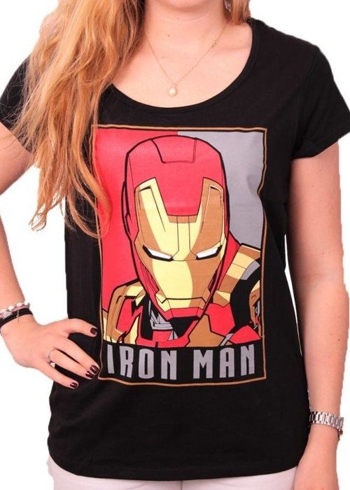 Marvel Iron Man Obey - Female T-Shirt