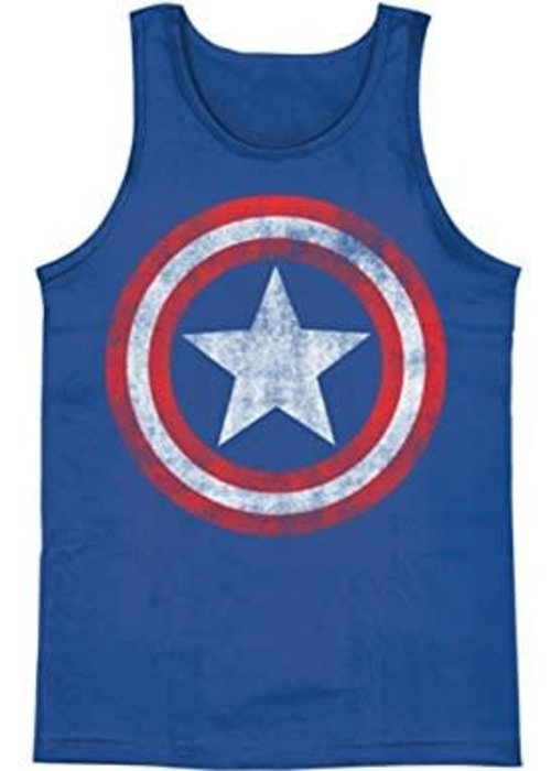 Marvel Captain America Logo Washed - Tank Top