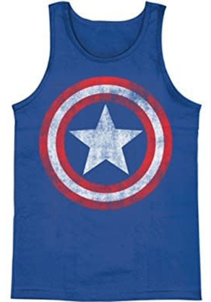 Captain America Logo Washed - Tank Top