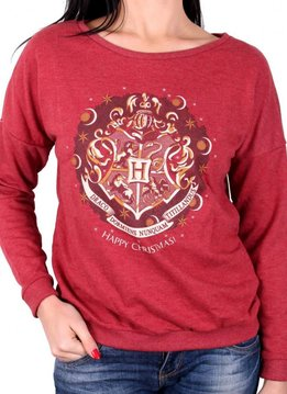 Harry Potter Harry Potter Hogwarts Crest - Female Sweater Red