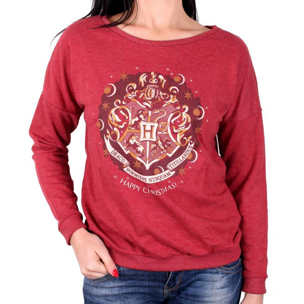 Harry Potter Harry Potter Hogwarts Crest - Female Sweater Red