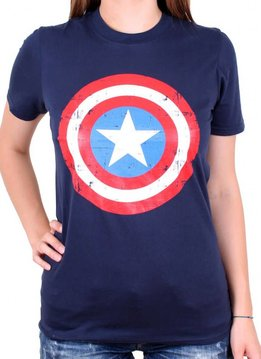 Marvel Captain America Shield - Female - T-Shirt