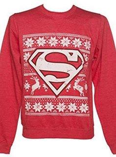 DC Superman Christmas Fair Isle Red - Sweater