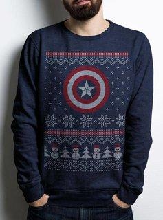 DC Captain America Christmas - Sweater