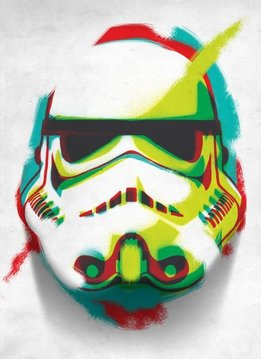 Star Wars Masked Trooper  Lime - Displate First Numbered Print