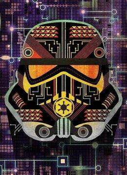 Star Wars Masked Trooper  Motherboard - Displate First Numbered Print
