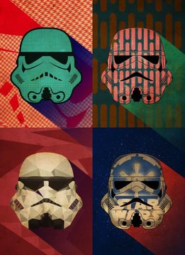 Star Wars Pop Art Troopers  Polygon  Squad - Displate First Numbered Print