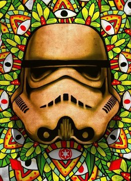 Star Wars Masked Trooper Stained - Displate First Numbered Print