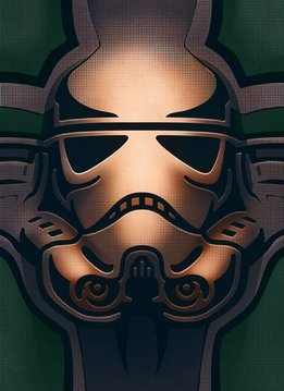 Star Wars Masked Trooper Carved - Displate First Numbered Print