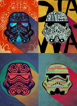 Star Wars Pop Art Masked Trooper Inksquad - Displate First Numbered Print