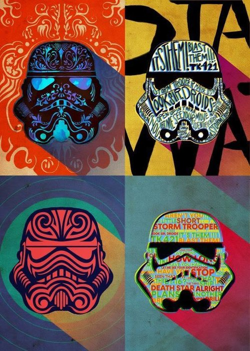 Star Wars Ink Squad First Numbered Pixie Print   Pop Art Troopers