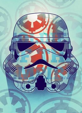 Star Wars Masked Trooper Soldier Of The Empire   - Displate First Numbered Print