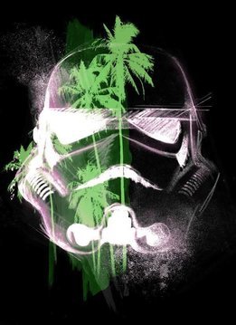 Star Wars Masked Trooper Tropical - Displate First Numbered Print