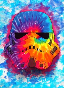 Star Wars Masked Trooper Hippie - Displate First Numbered Print