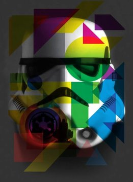 Star Wars Masked Trooper Geometric - Displate First Numbered Print