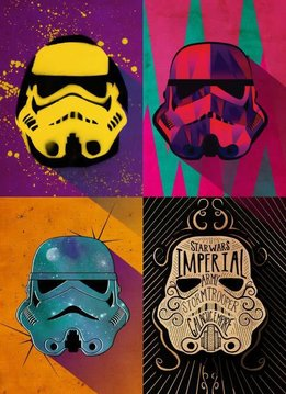 Star Wars Pop Art Masked Troopers Urban squad - Displate First Numbered Print