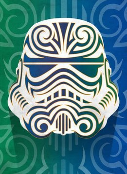 Star Wars Masked Trooper Tribal - Displate First Numbered Print