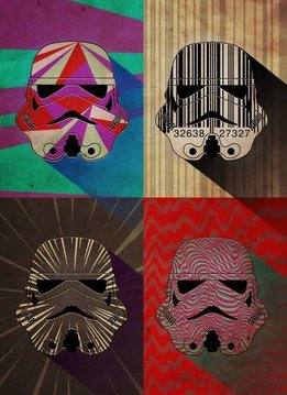 Star Wars Pop Art Troopers Wave Squad - Displate First Numbered Print