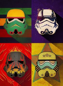 Star Wars Masked Trooper Flame Squad - Displate First Numbered Print