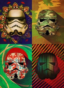 Star Wars Pop Art Troopers Camo Squad - Displate First Numbered Print