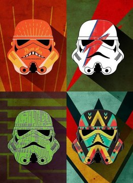 Star Wars Masked Trooper Thunder Squad - Displate First Numbered Print