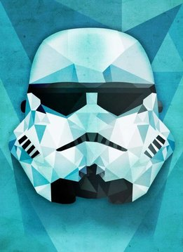 Star Wars Masked Trooper Polygon - Displate First Numbered Print