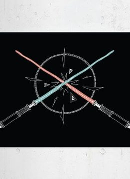 Star Wars Lightsabers - Space Patterns - Displate First Numbered Print