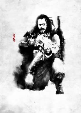 Star Wars Baze Malbus - Rogues Artbook - Displate First Numbered Print