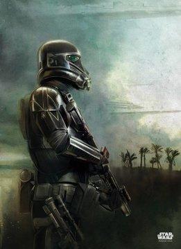 Star Wars Desert Patrol - Battle of Scarif - Displate First Numbered Print