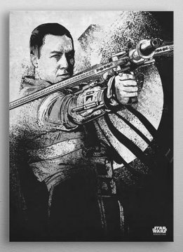 Star Wars Chirrut Imwe - Rogue One Gray Morality - Displate First Numbered Print