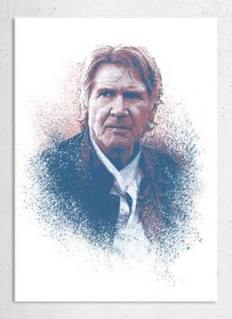 Star Wars Old Han - Guiding Force - Displate First Numbered Print