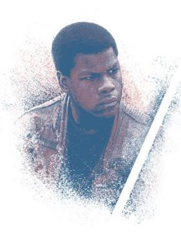 Star Wars Finn - Star Wars Guiding Force - Displate First Numbered Print