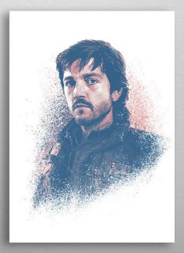 Star Wars Cassian Andor - Star Wars Guiding Force - Displate First Numbered Print Standard