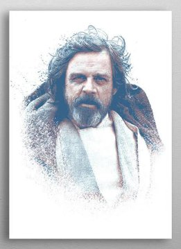Star Wars Old Luke - Star Wars Guiding Force - Displate First Numbered Print Standard