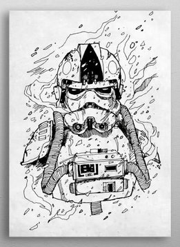 Star Wars Trooper Pilot- Star Wars Blueprints- Displate First Numbered Print Standard
