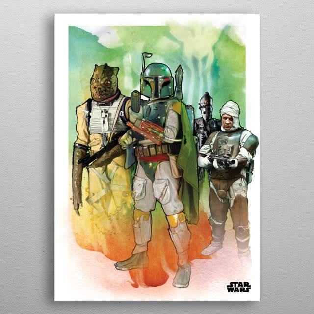 Star Wars The Bounty Hunters - Star Wars Iconic Paintings - Displate First Numbered Print Standard